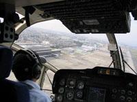 名古屋空港を離陸、伊勢湾を目指します。