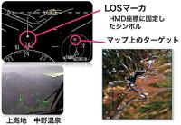 上高地での地上目標捕捉実験