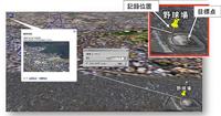 松本球場にマーカを設定した際の誤差